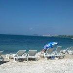 Beach outside Villa Pinnochio