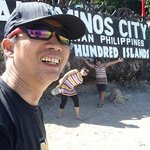 At Quezon Island, with my two travel buddies