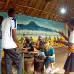Learning some Tanzanian rhythms!