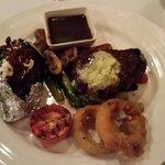 The delicious 200gm sirloin steak