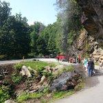 road under the falls