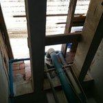 il cubicolo non prende aria dal tetto : e' chiuso in alto