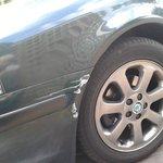 damaged car!