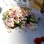 Local prawn sandwich