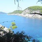Vista dall'isola di Kolocep