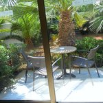 Outside seating of room
