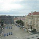 Вид из окна на музейный квартал и Вену