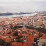 ロープウェー(Madeira Cable Car)からの眺め