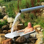 The massage waterfall