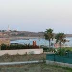 Uitzicht van uit de kamer op het archeologisch park van Paphos