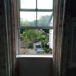 view from my window standing farther inside the room