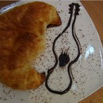 Excellent French croissant + one of the waitresses knows I am a composer ;-)