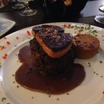 6 hour slow cooked oxtail with pan seared foie gras