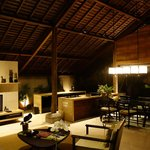Our villas private lounge/kitchen area