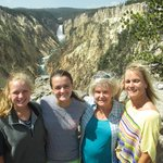 The Yellowstone Grand Canyon and 4 members of the family