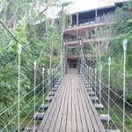 One of the cable bridges to the room