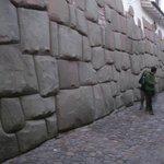 Inca wall 100 feet from the Monasterio Hotel
