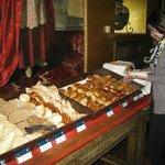 Breakfast buffet at the Monasterio Hotel