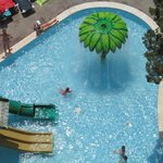 view of kids pool from balcony