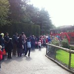 Queue for the Buffalo Roller Coaster - 20 August 2014