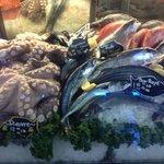 На рынке отличные морепродукты