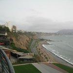 Ocean front boardwalk outside the JW Marriott Hotel