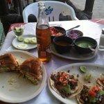 The pastortorta (pork) is amazing, the el pastor tacos- so good, the asada  taco incredible! Als