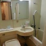 Bathroom with mini bath tub