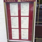 Outside menu