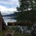 Loch Ness with boat traffic