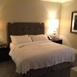 Bedroom area of the Waldorf Suite.