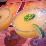 Fresh Mango Jalapeno Margaritas