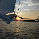 Sunset and sail