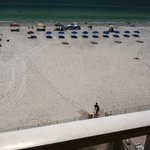 Forward view of beach from balcony