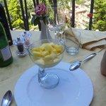 Mascarpone cream with fresh Pineapple