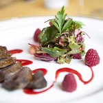 Pigeon & Raspberry Salad