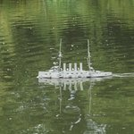 Model Ship on the pond