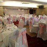 Lapwing Suite - our wedding breakfast room, lighting doesn't compliment it! Very twinkly w/spotl