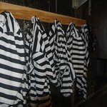 jail clothes just a hanng there waiting for a bad guy