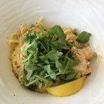 linguine au homard sauce crémeuse citronée