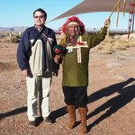 With Hualapai Indian Tribe member