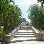 The only stairs with a ramp at Tulum site leading to the entrance (1:3 slope in places straight