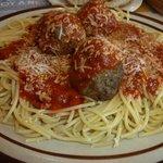 Denny's spaghetti with Parmesan