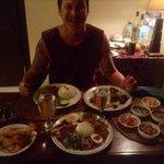 room service spread with amazing sambals!