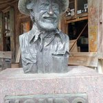 the statue of Hondo, a rancher and Texas folklorist