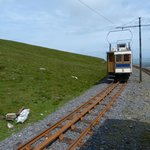 Passing train Snaefell