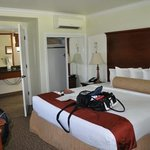 good size room with king bed
