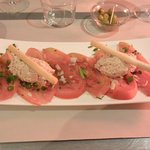 starter : tomatoes 'old style' with tuna