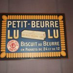 pubblicità d'epoca del famoso petit-beurre della Lefèvre Utile