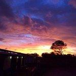 sunset at eco lodge